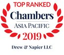 Chambers Asia-Pacific 2019 Top Ranked Firm